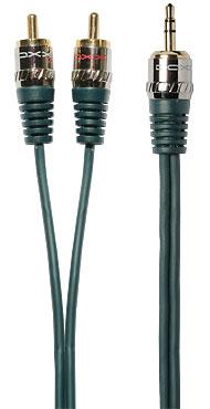 mini jack 2RCA кабель